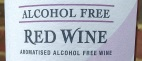 Alcohol Free Red Wine Label