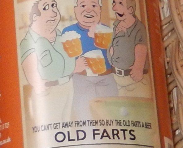 Old Farts Ruby Ale Label